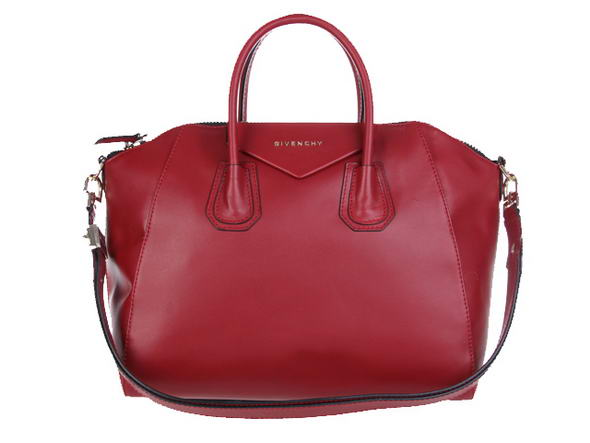 Givenchy Small Antigona Bag Lichee Pattern Leather 9981 Red