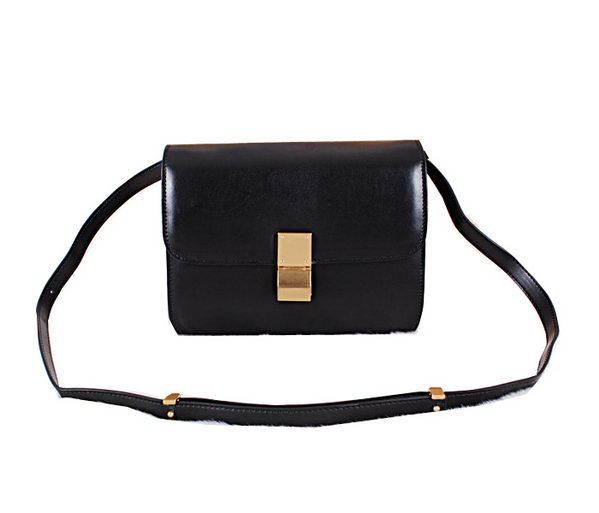 Celine Classic Box Small Flap Bag Calfskin C88007 Black