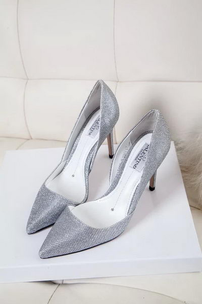 Valentino Leather 70mm Pump VT326YZM Silver