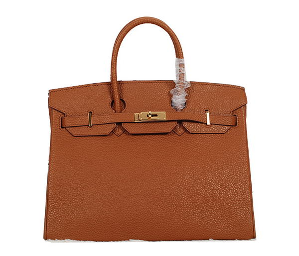 Hermes Birkin 35CM Tote Bag Camel Clemence Leather H35 Gold