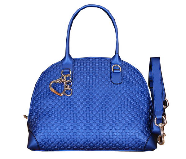 Gucci Heart Bit Medium Top Handle Bag 269954 Blue