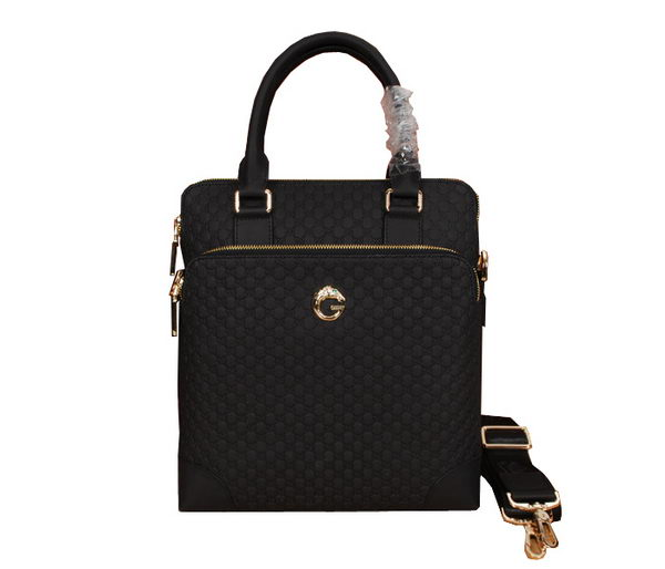 Gucci Guccissima Leather Mens Tote Bag GG8617 Black