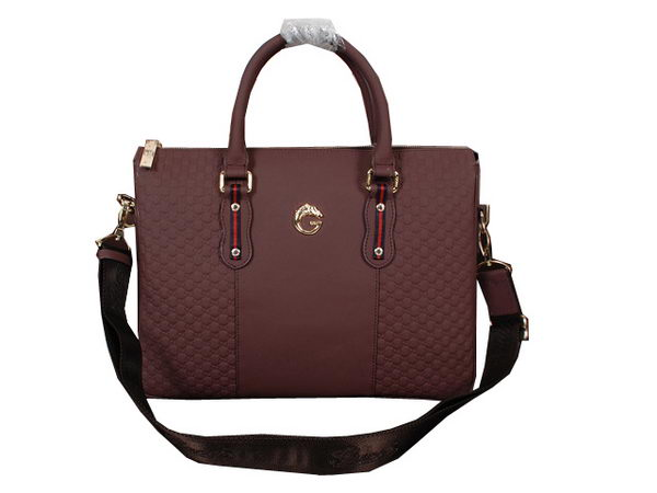 Gucci Guccissima Leather Business Briefcase 11974121 Burgundy