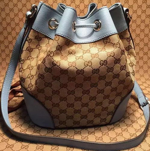Gucci Classic Bucket Bag Original GG Canvas 381597 SkyBlue
