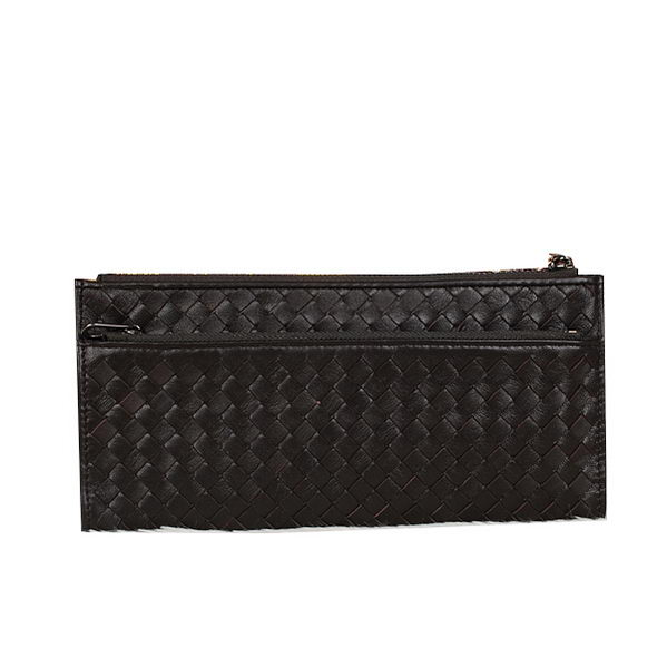 Bottega Veneta Intrecciato Nappa Zippy Wallet BV889 Brown