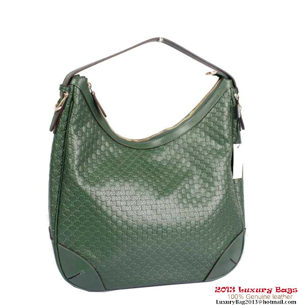 Gucci Nice Microguccissima Hobo Bag 309618 Dark Green