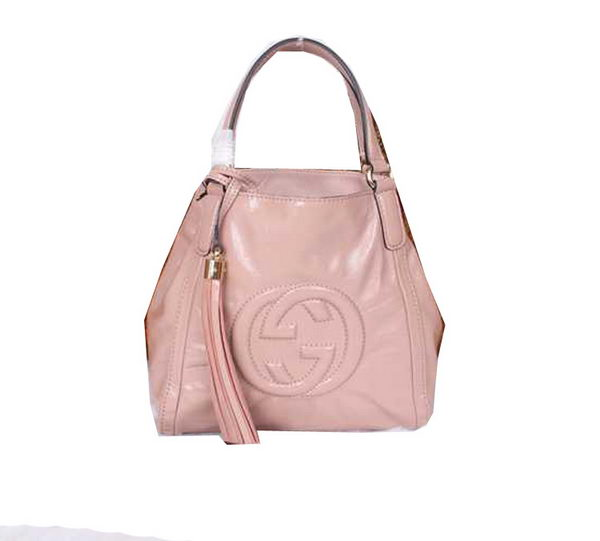 Gucci Soho Shoulder Bag Patent Leather 336751 Pink