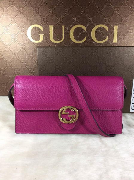 Gucci Icon Leather Wallet 369664 Purple