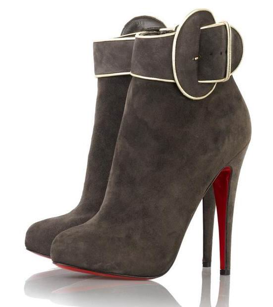 Christian Louboutin Trottinette 140 Ankle Boots Suede