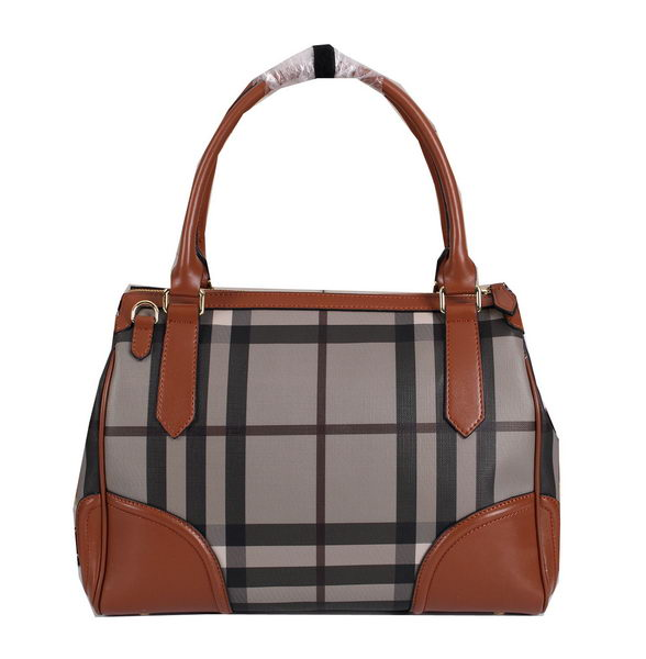 BurBerry Small Smoked Check Tote Bag BU8805 Brown