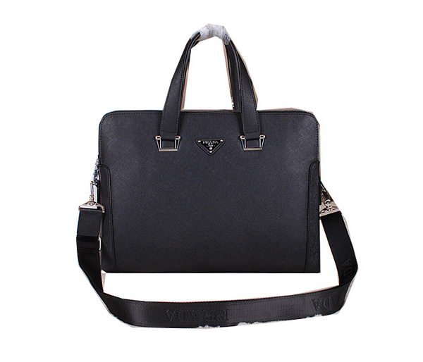 Prada Saffiano Leather Briefcase 81169 Black