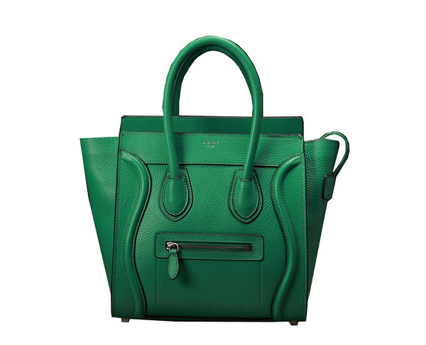 Celine Luggage Micro Boston Bag Clemence Leather 3307 Green