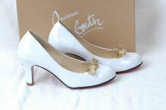 Christian Louboutin Pumps Patent White leather