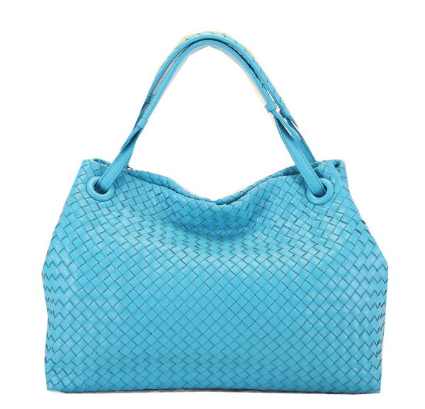 Bottega Veneta Intrecciato Nappa Shoulder Bag BV9636 SkyBlue