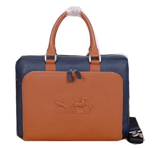 Hermes Briefcase Original Calf Leather H3005 Blue