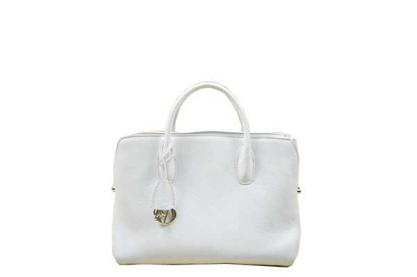 Dior DiorBar Large Top Handle Bag Original Grainy Leather D6608 White