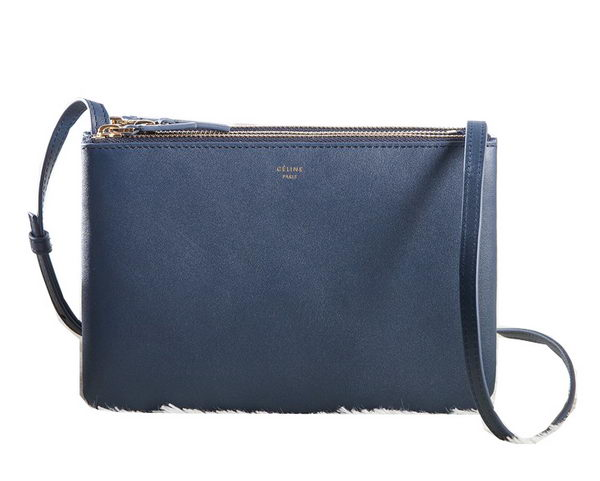 Celine mini Trio Crossbody Messenger Bag C3001 Royal