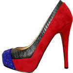 Christian Louboutin Red Sole Shoes Maggie Blue