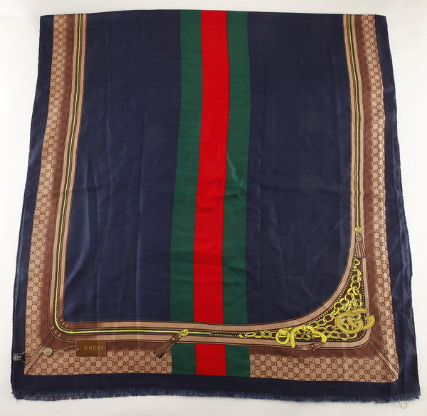 Gucci Scarves Cashmere GG6706 Navy blue