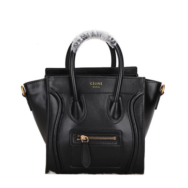 Celine Luggage Nano Bag Smooth Leather CL106 Black