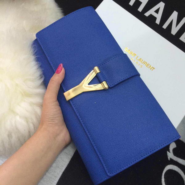 YSL Chyc Travel Case Original Leather 302101 Blue