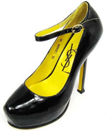 YSL patent leather Tribute high heel Pump black