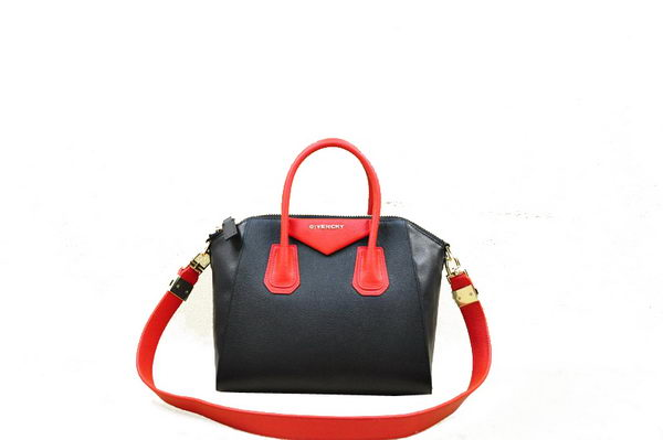 Givenchy Small Antigona Bag Original Leather 9981S Black&Red