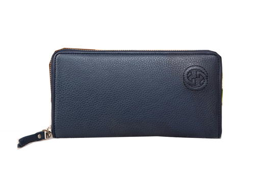 Gucci Interlocking G Zip Around Wallet 681062 Royal