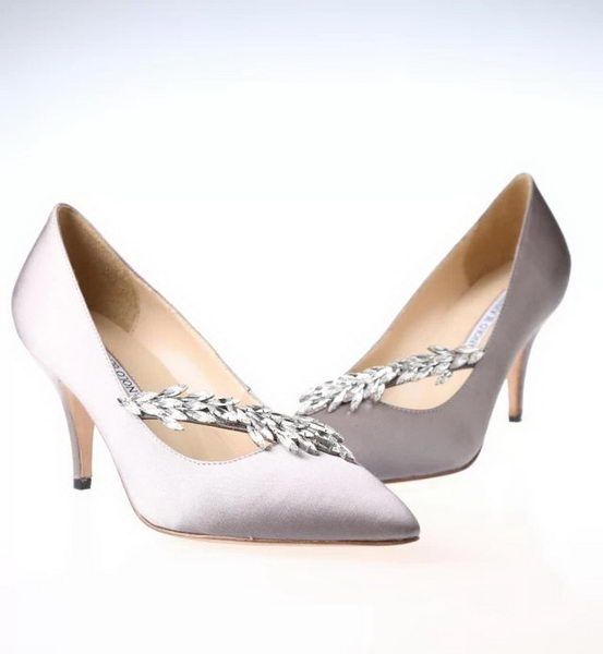 Manolo Blahnik Point-Toe Pump MB057 Grey