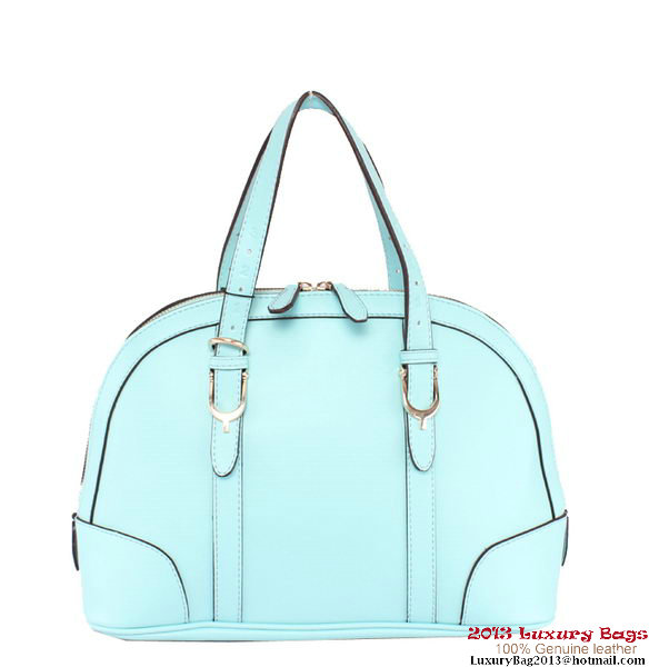 Gucci Nice Small Top Handle Bag Calf Leather 309617 Light Blue