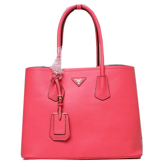 Prada Grainy Leather Tote Bag BN2756 Light Red