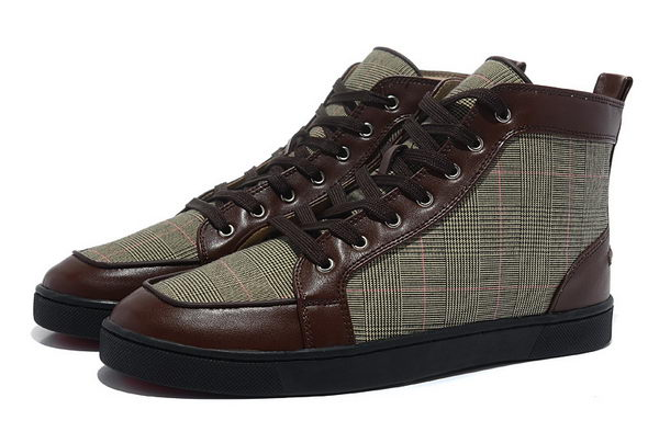 Christian Louboutin Casual Shoes Fabric & Leather CL864 Brown