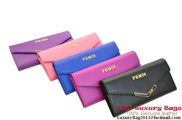 Fendi Wallet Clutch in Soft Leather