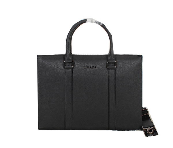 Prada Original Leather Briefcase P99121 Black