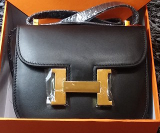 Hermes Constance Bag Smooth Leather H9999S Black