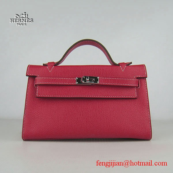 Hermes H008 cattle neck stripe red bags