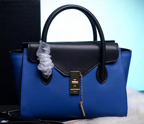 CHLOE Smooth Calfskin Leather Tote Bag C6814 Blue
