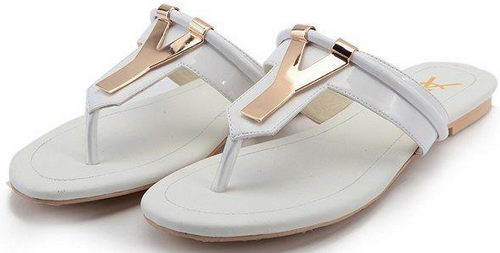 Yves Saint Laurent Slipper Patent Leather YSL243 White