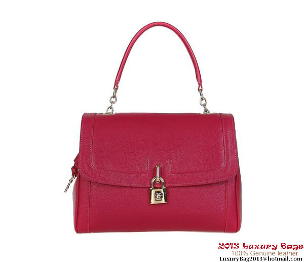 DOLCE&GABBANA Textured Leather Dolce Bag BB4514 Rosy