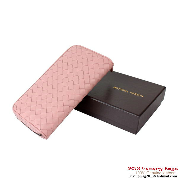 Bottega Veneta Intrecciato Nappa Continental Wallet BV1008 Light Pink