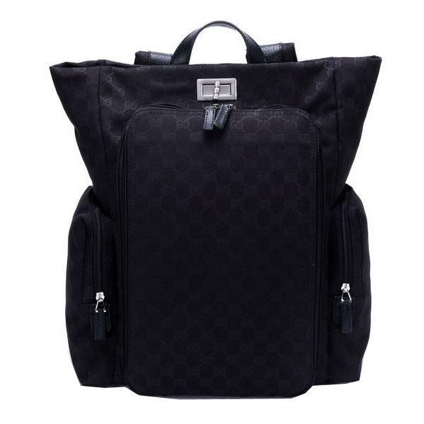 Gucci Backpack Canvas Diaper Bag 28551 Black