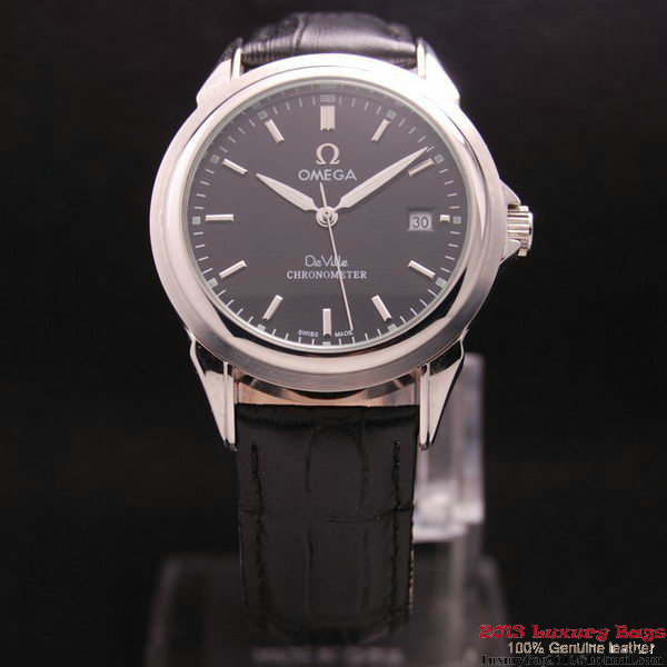 OMEGA DE VILLE Chronometer Steel on Black Strap OM77308