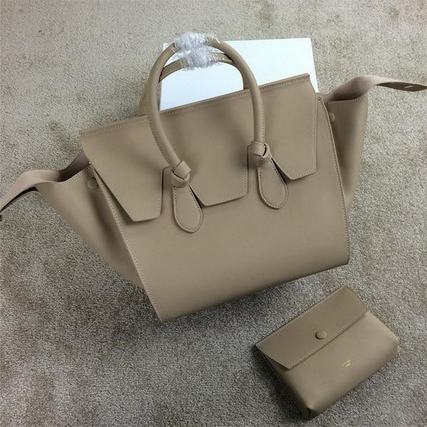 Celine Tie Top Handle Bags Original Leather 98314 Beige