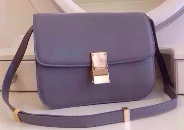 Celine Classic Box Flap Bag Calfskin Leather C2263 Purple