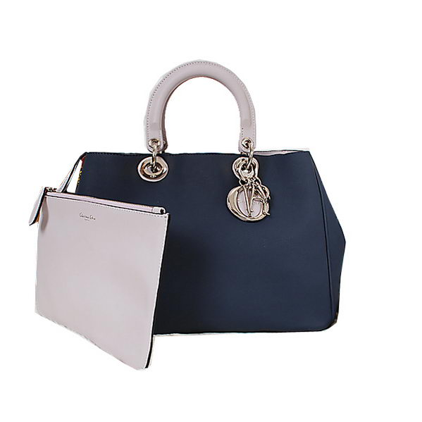 Dior Medium Diorissimo Bag in Nappa Leather D9624 RoyalBlue
