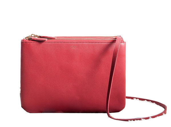 Celine Trio Crossbody Messenger Bag C3000 Red