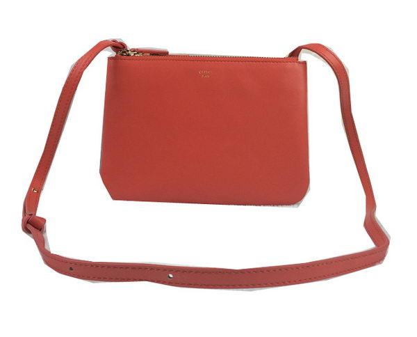 Celine Trio Original Leather Shoulder Bag C98317 Orange