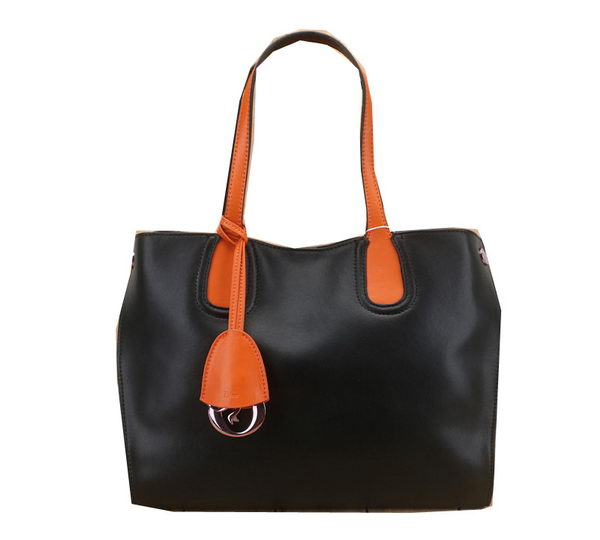 Dior ADDICT Bag Two-Tone Calfskin Leather D0832 Black