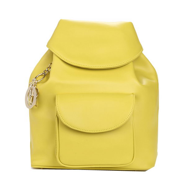 Dior Backpack Calfskin Leather D0909 Yellow