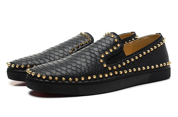 Christian Louboutin Casual Shoes Snake Leather CL841 Black